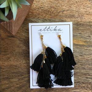Ettika Black Chandelier Earring